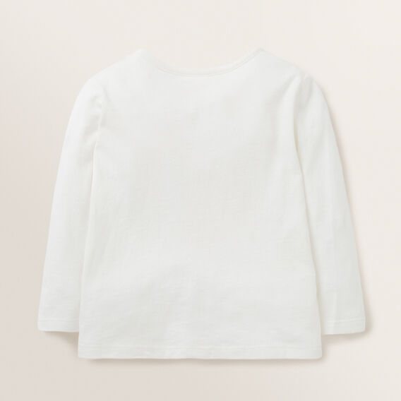 Long Sleeved Crotchet Daisy Tee  CANVAS  hi-res