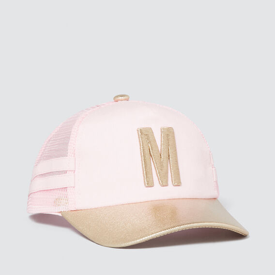Metallic Initial Mesh Cap  M  hi-res
