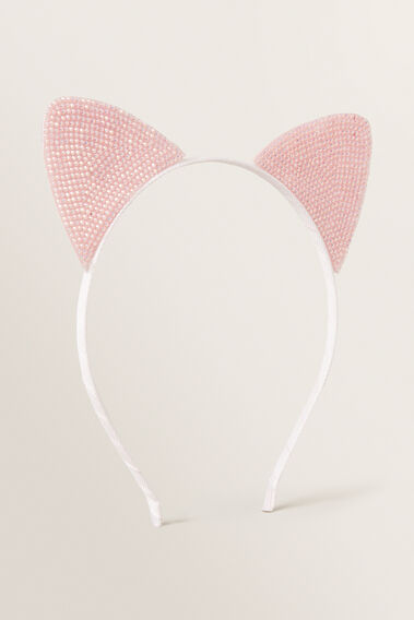 Gem Cat Ears Headband  PINK  hi-res