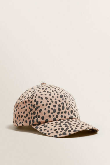 Cheetah Print Cap  BEIGE  hi-res