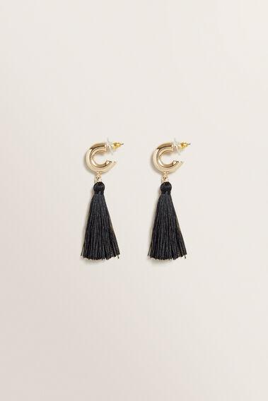 Tassel Earring  BLACK  hi-res