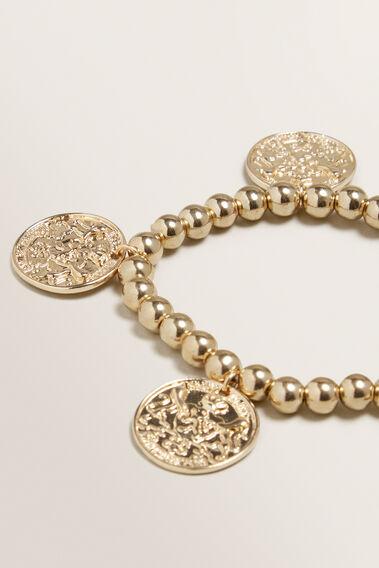 Bead Coin Bracelet  GOLD  hi-res