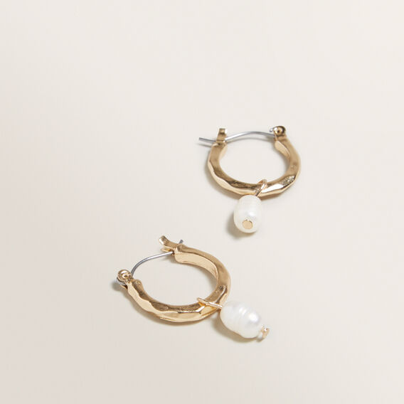 Drop Pearl Earrings  GOLD  hi-res