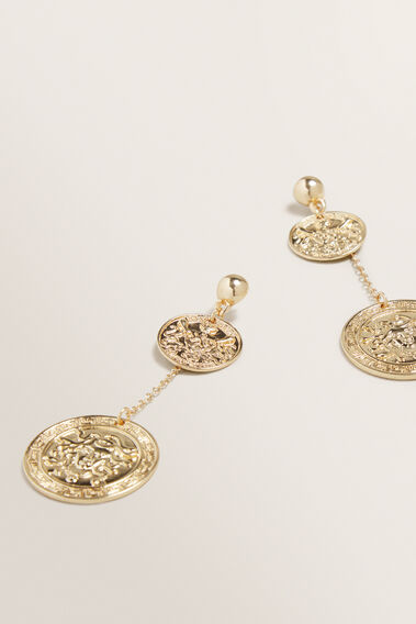 Coin Chain Earring  GOLD  hi-res