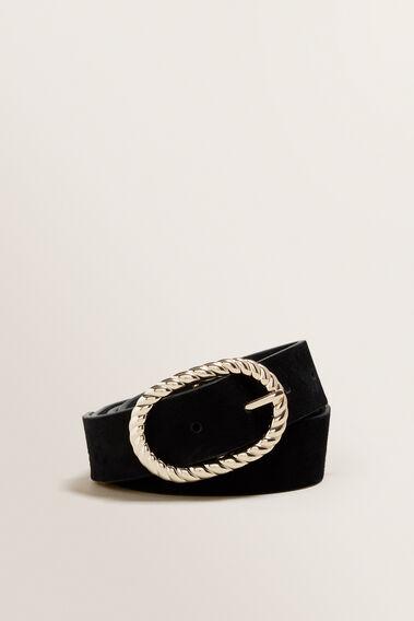 Rope Buckle Belt  BLACK  hi-res