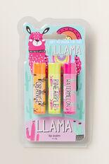 Llama Lipbalm Trio Pack  MULTI  hi-res