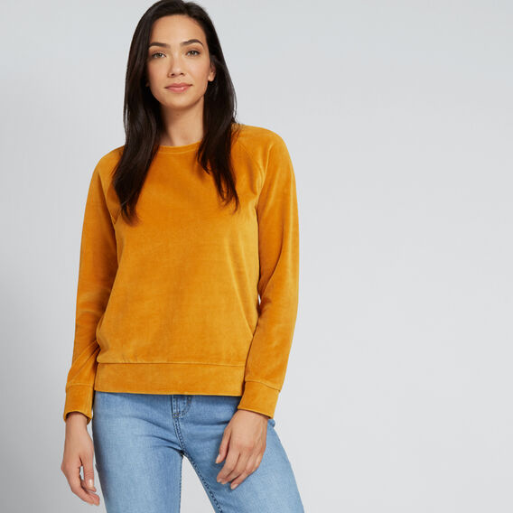 Velour Raglan Sweater  GOLDEN MUSTARD  hi-res