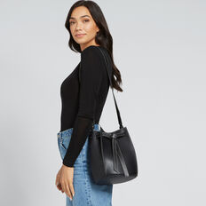 Knot Closure Bucket Bag  BLACK  hi-res