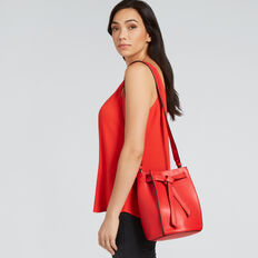 Knot Closure Bucket Bag  RED  hi-res