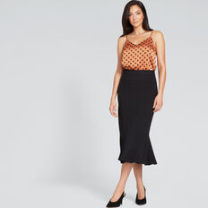 Peplum Skirt  BLACK  hi-res