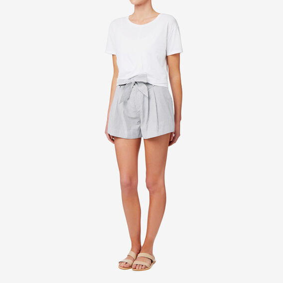 Tie Up Stripe Short  STRIPE  hi-res