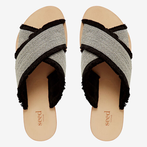 Lila Embellished Slide  BLACK  hi-res