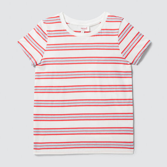Basic Stripe Tee  VINTAGE WHITE  hi-res