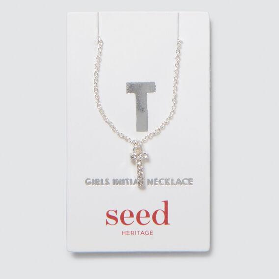 Diamante Initial Necklace  T  hi-res