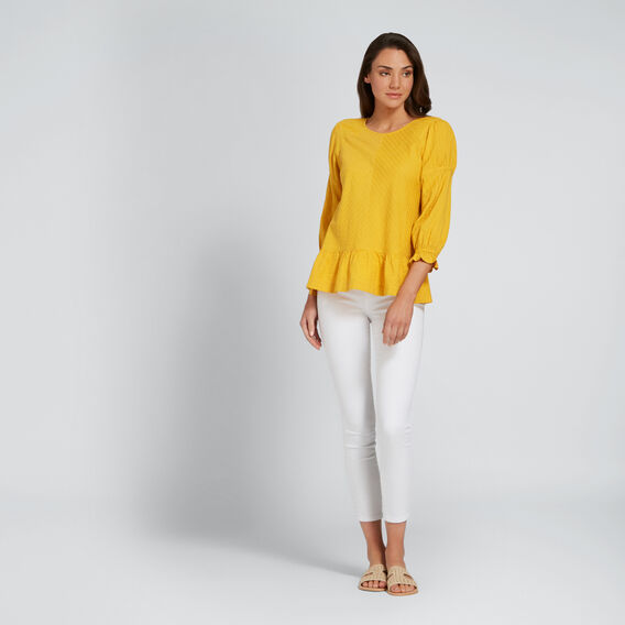 Pretty Gathered Top  AMBER YELLOW  hi-res