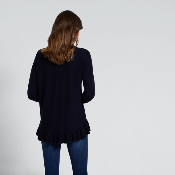 Frilly-Hem Knit  DEEP NAVY  hi-res