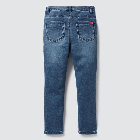 Knit Denim Skinny Jean  WASHED BLUE  hi-res