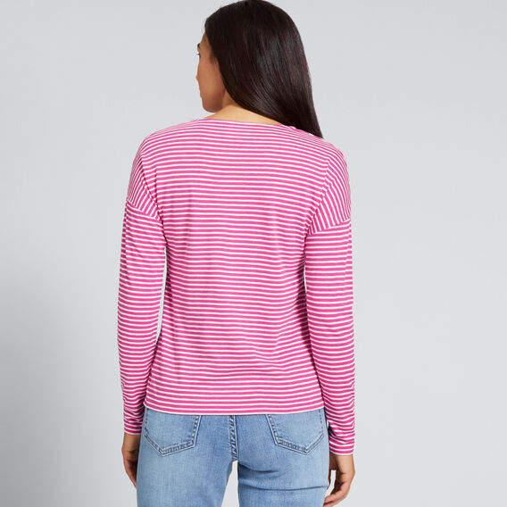 Stripey Long SLeeve Top  BOLD FUCHSIA STRIPE  hi-res