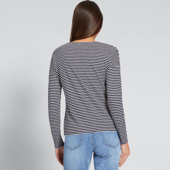 Stripey Long SLeeve Top  NAUTICAL BLUE STRIPE  hi-res
