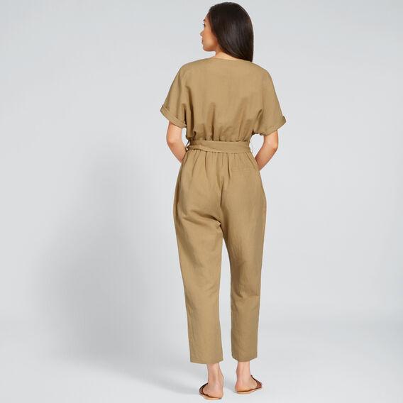 Textured Jumpsuit  LIGHT COCOA  hi-res
