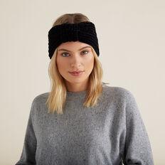 Knitted Turban  BLACK  hi-res