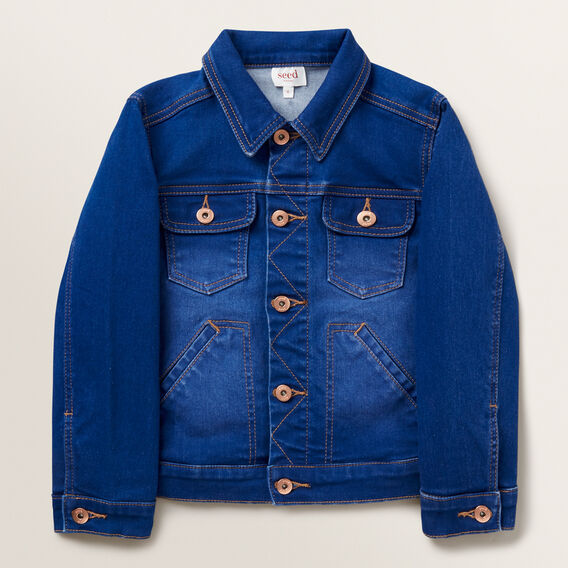 Boxy Denim Jacket  BRIGHT INDIGO  hi-res