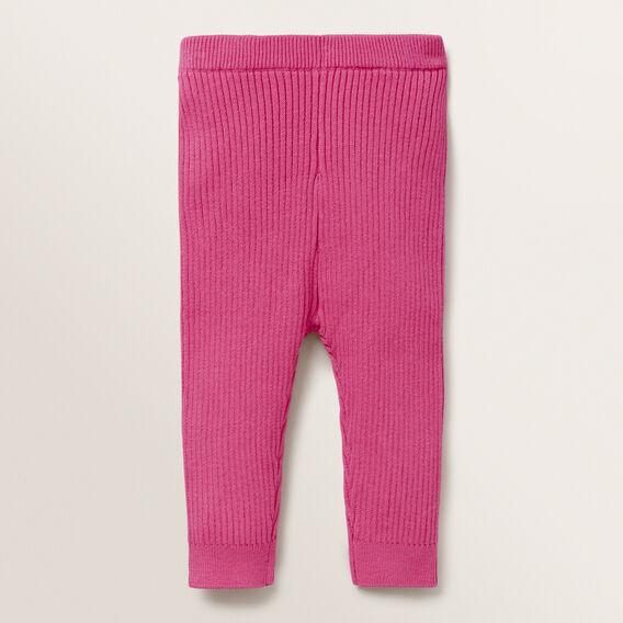 Rib Knit Legging  FUCHSIA  hi-res