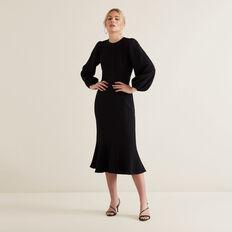Full Sleeve Jacquard Dress  BLACK  hi-res