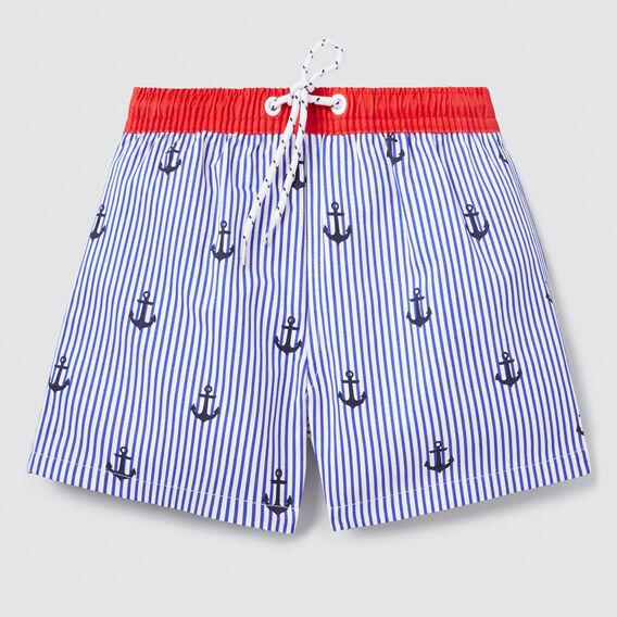 Anchor Stripe Boardie  BLUE BOLT  hi-res