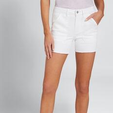 Patch Pocket Denim Short  WHITE  hi-res