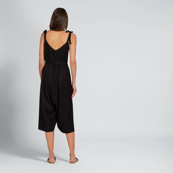 Relaxed Tie Jumpsuit  BLACK  hi-res