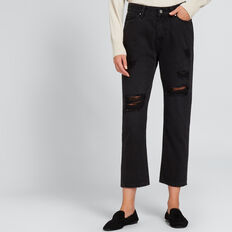 Distressed Jean  WASHED BLACK  hi-res