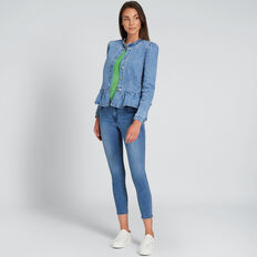 Frill Detail Denim Jacket  CLASSIC DENIM  hi-res