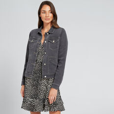Distressed Denim Jacket  ASH DENIM  hi-res