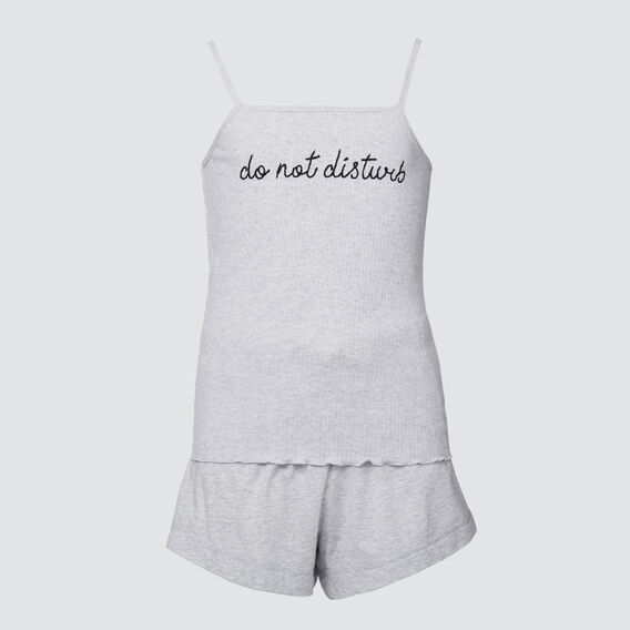 Rib Tank Pyjama Set  CLOUD  hi-res