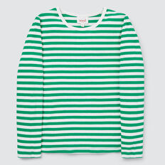 Stripe Rib Tee  APPLE GREEN/CANVAS  hi-res