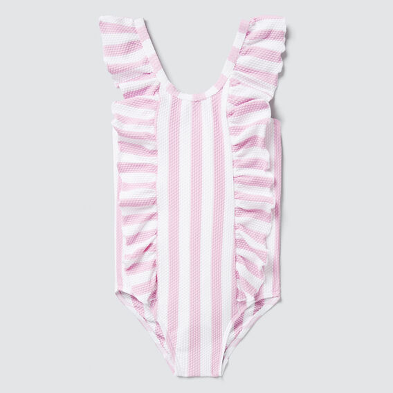 Stripe Bow Bather  FAIRY FLOSS/WHITE  hi-res