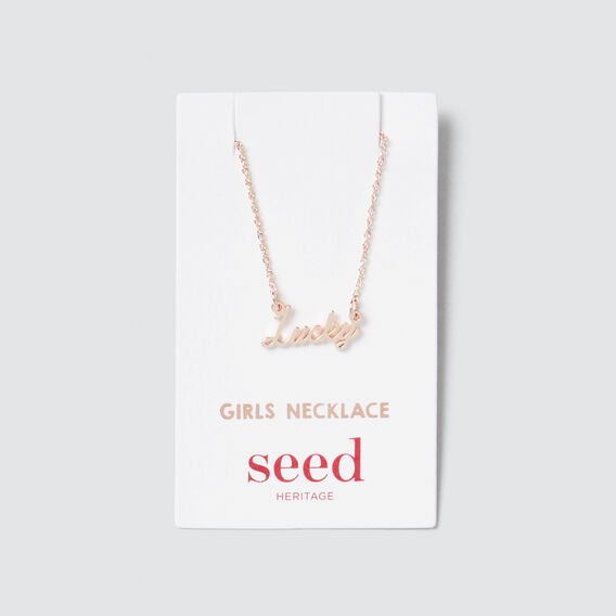 Lucky Necklace  ROSE GOLD  hi-res