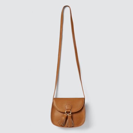 Tassel Saddle Bag  TAN  hi-res
