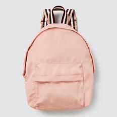Stripe Trim Backpack  DUSK ROSE  hi-res