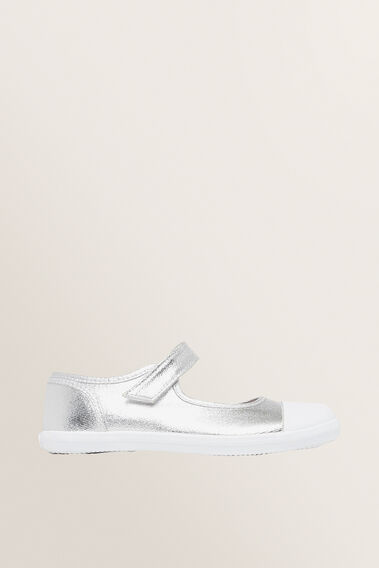 Toddler Canvas Mary Jane  SILVER  hi-res