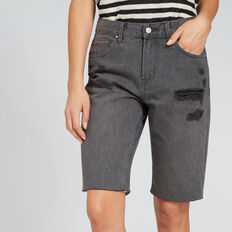 Longline Bermuda Short  ASH DENIM  hi-res