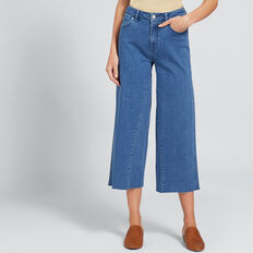 Raw Edge Wide Leg Jean  DEEP SEA DENIM  hi-res