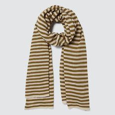 Stripe Knit Scarf  KHAKI STRIPE  hi-res