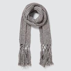 Tassel Knit Scarf  GREY SPECKLE  hi-res