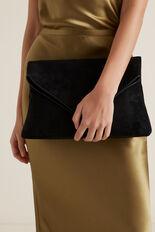 Margot Fold Over Clutch  BLACK  hi-res