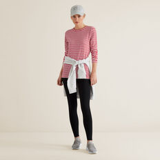 Long Sleeve Slim Basic Tee  RASPBERRY STRIPE  hi-res