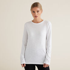 Long Sleeve Slim Basic Tee  SNOW WHITE  hi-res