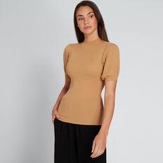 Puff Sleeve Knit  GOLDEN TAN  hi-res