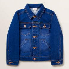 Boxy Denim Jacket  BRIGHT INDIGO  hi-res